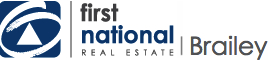 Logo - First National Real Estate Brailey