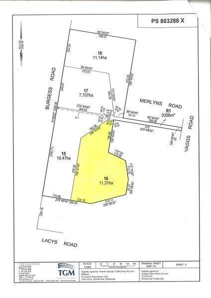 Lot 16 Merlyns Road (Off Vaggs Road), Ross Creek VIC 3351