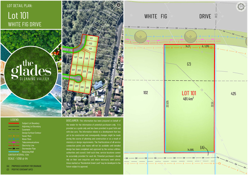 Lot 101 White Fig Drive, Glenning Valley NSW 2261 - Land for