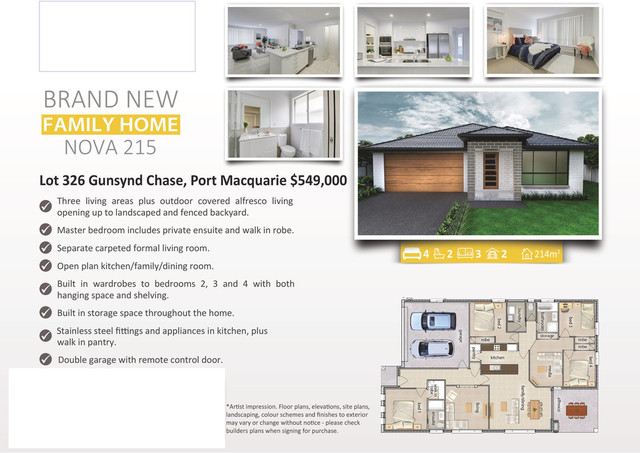 Lot 326 Gunsynd Chase, Port Macquarie NSW 2444