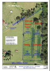 Proposed Lots... Mill Creek Road