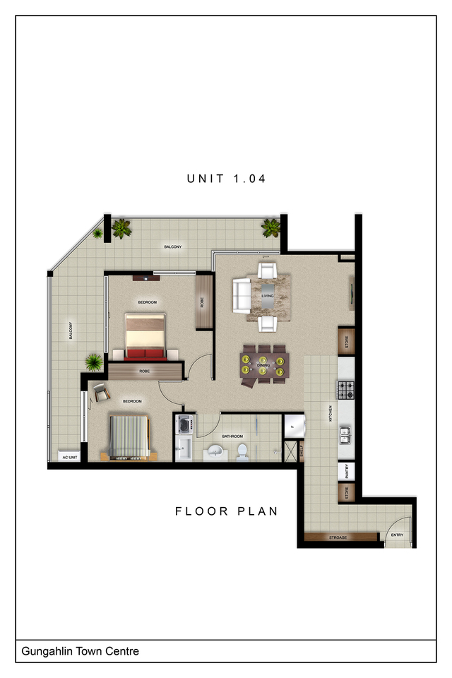 Metro One - Two bedroom one bathroom corner apartment, ACT 2912