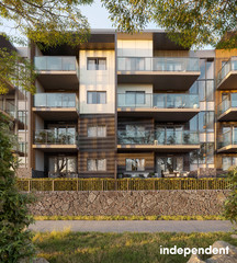 Oversized outdoor entertaining area | 2-bedroom, 2-bathroom apartment Denman Prospect ACT 2611