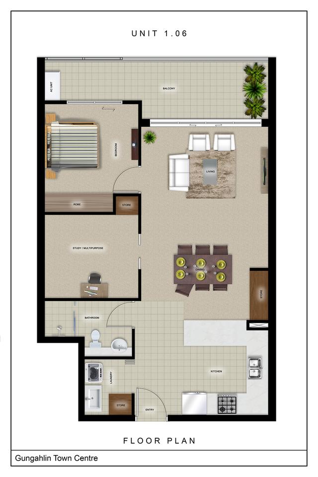 Metro One - One bedroom plus huge study, Gungahlin ACT 2912