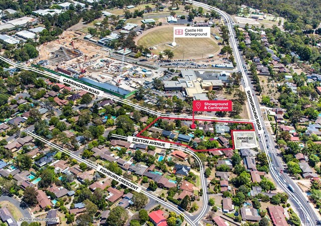 Showground & Carrington Road, Castle Hill NSW 2154