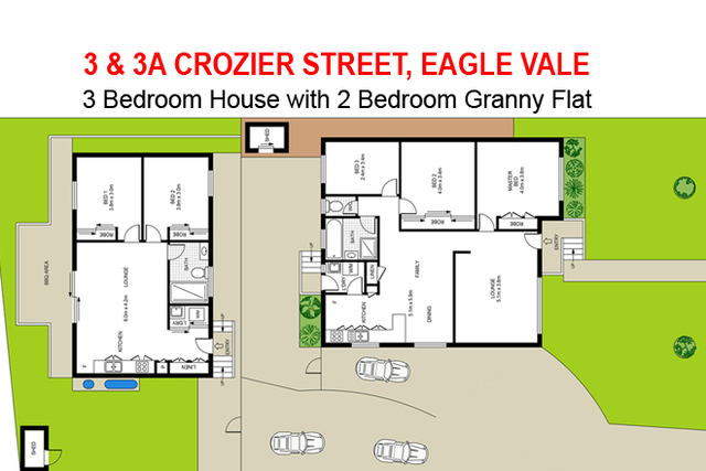3 and 3A Crozier Street, Eagle Vale NSW 2558