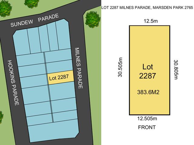 Lot 2287 Milnes Parade, Marsden Park NSW 2765