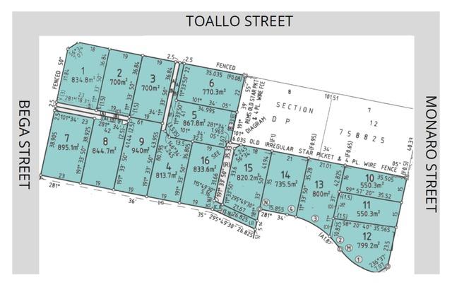 Lots 1-16 Corner Of Monaro Street Toallo Street And Bega Street, NSW 2549