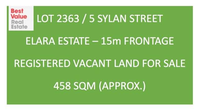Lot 2363/5 Sylan Street, Marsden Park NSW 2765