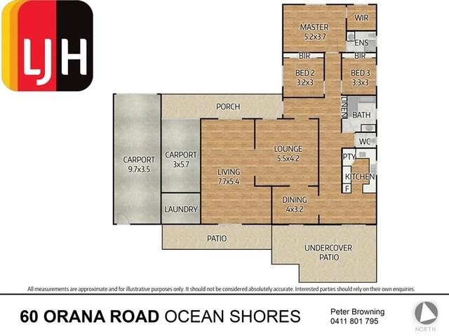 60 Orana Road, Ocean Shores NSW 2483