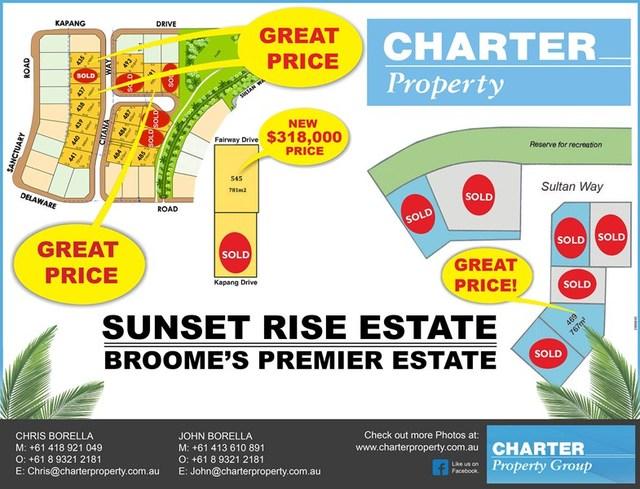 Sunset Rise Estate, Broome WA 6725