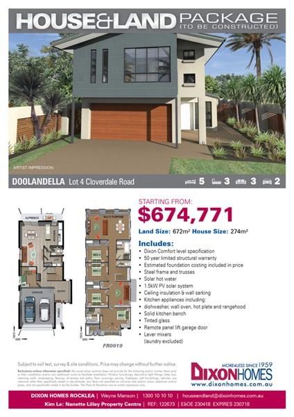 Lot 4/null Cloverdale Road, Doolandella QLD 4077