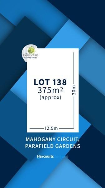 Lot 138 Mahogany Circuit, Parafield Gardens SA 5107