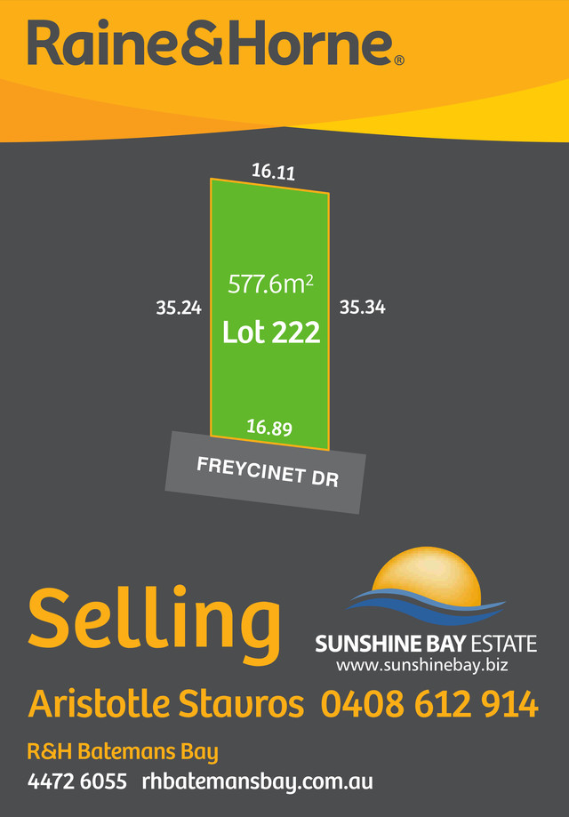 Lot 222 Freycinet Drive, NSW 2536