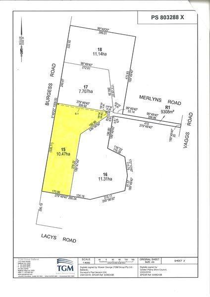 Lot 15 Merlyns Road, Ross Creek VIC 3351