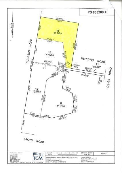 Lot 18 Merlyns Road (Off Vaggs Road), Ross Creek VIC 3351