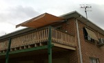 Elevated deck.